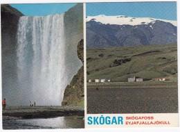 Skógafoss Waterfall & Summer Hotel Skógar -  Iceland - Island - Skógafoss Vandfald & Realskole Summerhotel Skógar - IJsland