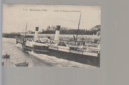Cpa ,   Boulogne Sur Mer , Départ Du Bateau De Folkestone  , Non  Voyagé - Boulogne Sur Mer