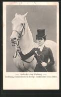 AK Schulreiterin Leokadia Von Walberg Im Kgl. Rumänischen Zirkus Siduli Mit Ihrem Schimmel - Paardensport