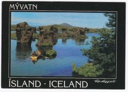 Mývatn; Lava Pillars  - Iceland - Island - Lavasojler Ved Soen Mývatn - IJsland