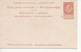Paquebots De L'Etat Belge-Ligne Ostende -Douvres-Princesse Clémentine-10 C. Fine Barbe. - Entiers Postaux