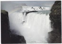 Gullfoss I Hvitá  -  Iceland - Island - The Golden Waterfall  (M.S. 'Delphin'  Postmark) - IJsland
