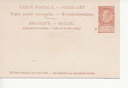 Paquebots De L'Etat Belge-ligne Ostende -Douvres-Princesse Joséphine-10 C. Fine Barbe. - Entiers Postaux