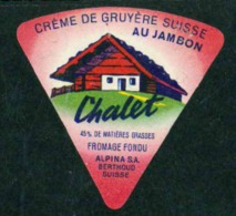 Etiquettes Fromage - Cheese Label - Chalet - Fromage