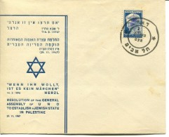 Resolution Of The Assembly Of UNO To Establish A JEWISH State In Palestina - Palestina