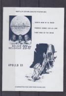 Espace - Premier Homme Sur La Lune - Apollo XI - Amstrong - Collins - Aldrin - Belgique - COB BF 46 * - NON Dentelé - Space