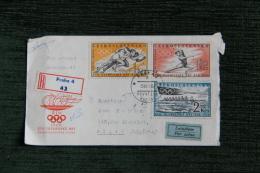 Enveloppe Timbrée Jeux Olympiques - PRAHA 1960 - Czechoslovakia