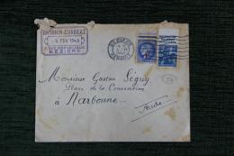 Enveloppe Timbrée  Publicitaire , BEZIERS , Etablissements Antonin CHABBERT, 3 Rue République. - Lettres & Documents