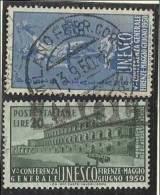 1950 Italia Italy Repubblica UNESCO Serie Di 2v. Usata U.N.E.S.C.O. - UNESCO