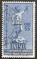 1950 Italia Italy Repubblica 55 Lire UNESCO Usato U.N.E.S.C.O. - UNESCO
