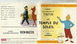 FASCICULE - VIEW MASTER  -  LES AVENTURES DE TINTIN - LE TEMPLE DU SOLEIL CASTERMAN  1949 - Livres, BD, Revues