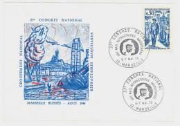 Cartonnette 27ème Congrès National Des Réfractaires Maquisards, Marseille 1972 ( PHIL ) - Francia