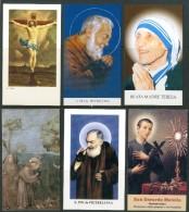 Santini - Lotto Di N. 17 Santini Moderni - Con Preghiera Come Da Scansione. - Images Religieuses