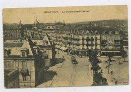 CPA: 90 -  BELFORT  - LE BOULEVARD CARNOT - Belfort - Ville