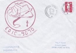 EDIC  9070 LORIENT ECOLE MARINE 12/3/1992 - Poststempel (Briefe)