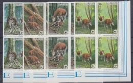 Zaire 1985 WWF/Okapi 4v Bl Of 4  ** Mnh (29392) - Zaïre