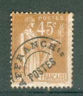 Collection FRANCE ; Préoblitérés ; 1922-47 ; Y&T N° 71  ; Neuf - Préoblitérés