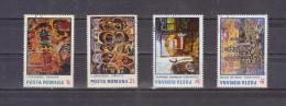 1985 - Tableaux Ion Tuculescu  Mi No 4155/4158 Et Yv No 3583/3586 - Usado