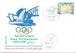 ALGERY FDC   SYDNEY 2000  (M160246) - Sommer 2000: Sydney - Paralympics