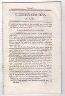 1845 BULLETIN DES LOIS - PAQUEBOTS A VOILES CALLAO PANAMA - VICHY - TOMBEAUX NAPOLEON 1er DUROC BERTRAND INVALIDES - Décrets & Lois
