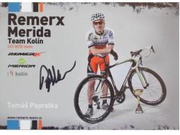 Cyclisme - Tomas PAPRSTKA - Signé De - Dédicace - Hand Signed - Autographe Authentique  - - Ciclismo