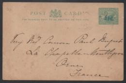 WESTERN AUSTRALIA - GUILDFORD - PERTH / 1897 ENTIER POSTAL SURCHARGE POUR LA FRANCE (ref E941) - 1854-1912 Western Australia