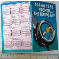 CALENDARIETTO, DEPLIANT, PRONTO CHE TEMPO CHE FA? - Formato Piccolo : 1981-90