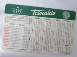 CALENDARIETTO, TOTOCALCIO 1983 - Formato Piccolo : 1981-90