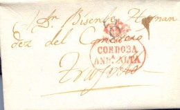 Año 1836 Prefilatelia Carta De Cordoba A Trujillo Marcas Condoba And Alta  Porteo 8 - ...-1850 Prefilatelia