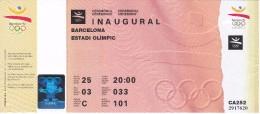 ENTRADA DE LA CEREMONIA DE INAUGURACION DE LAS OLIMPIADAS DE BARCELONA´92 EN EL ESTADI OLIMPIC (COBI) - Juegos Olímpicos