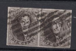 N° 10 Paire Margée 8 Barres - 1858-1862 Medallions (9/12)