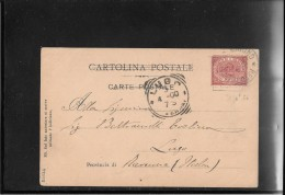 SAN MARINO 1900 Postcard To Lugo,Italy (ref 298) - Lettres & Documents