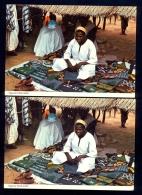 2 The Same Postcard - Nigerian Cloth-Seller / Postcard Circulated - Nigeria