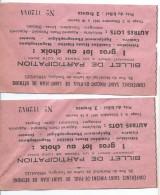 Conférence Saint-Vincent-de-Paul De Saint Jean De Béthune/Billet De Loterie/VERSAILLES/ Vers 1960     VPN50 - Billets De Loterie