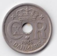 Denmark, 25 Øre, 1946 N ♥ GJ, 2 Scans.  Copper-Nickel   KM 823.2 - Denmark