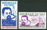 """1980 Mali """"Copernico"""" """"Kepler""""Astronomi Astronomers Astronomes Set MNH** -Fiog79 - Astronomùia"""