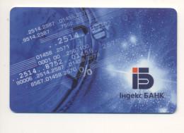 UKRAINE Credit Card Bankcard Index Bank  Exp To 2005 - Geldkarten (Ablauf Min. 10 Jahre)