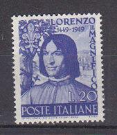 PGL CW128 - ITALIA REPUBBLICA SASSONE N°608 ** - 6. 1946-.. Repubblica