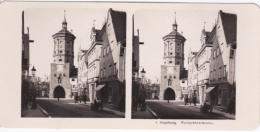 Stereo-Foto (photo Stéréo) 1 Augsburg -Wertachbrückentor- - Ohne Zuordnung