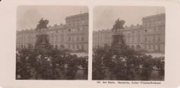 Stereo-Foto (photo Stéréo) 145 Der Rhein -Mannheim, Kaiser Wilhelm-Denkmal- - Photographica