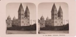 Stereo-Foto (photo Stéréo) 100 Der Rhein -Andernach, Pfarrkirche- - Photographica