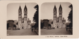 Stereo-Foto (photo Stéréo) 79 Der Rhein -Koblenz, Castor Kirche- - Photographica