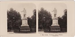 Stereo-Foto (photo Stéréo) 23 Der Rhein -Wiesbaden, Kaiser Wilhelm-Denkmal II- - Photographica