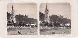 Stereo-Foto (photo Stéréo) 56 Der Rhein -St. Goarshausen Und Die Burg Katz- - Photographica
