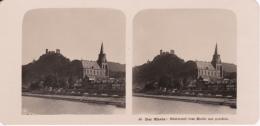 Stereo-Foto (photo Stéréo) 46 Der Rhein -Oberwesel Vom Rhein Aus Gesehen- - Photographica