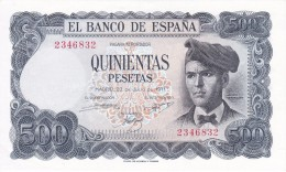 BILLETE DE ESPAÑA DE 500 PTAS DEL AÑO 1971 SIN SERIE Y SIN CIRCULAR (UNCIRCULATED) - [ 3] 1936-1975 : Regency Of Franco