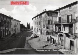 Umbria-terni-casteltodino Piazza Del Plebiscito Veduta Vecchio Benzinaio Avia Auto D´epoca Animata