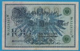 DEUTSCHES REICH 100 MARK 7.02.1908  Alpha 3328343M   P#34 - [ 2] 1871-1918 : German Empire