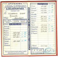 Afstanden J. Cras & H. Stepman - G. Deleersnyder - Bellegem - 1952 - Historische Dokumente
