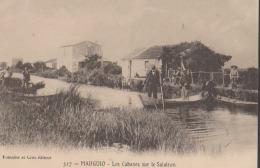 CPA:Mauguio:Les Cabanes Sur Le Salaison:Animation - Mauguio